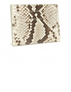 Snakeskin Slim Credit Card Case, Genuine Diamond Python Card Holder