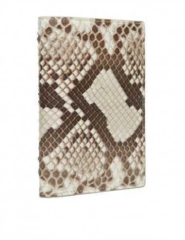 Men's Snake Skin Bifold Vertical Wallet, Diamond Python Wallet