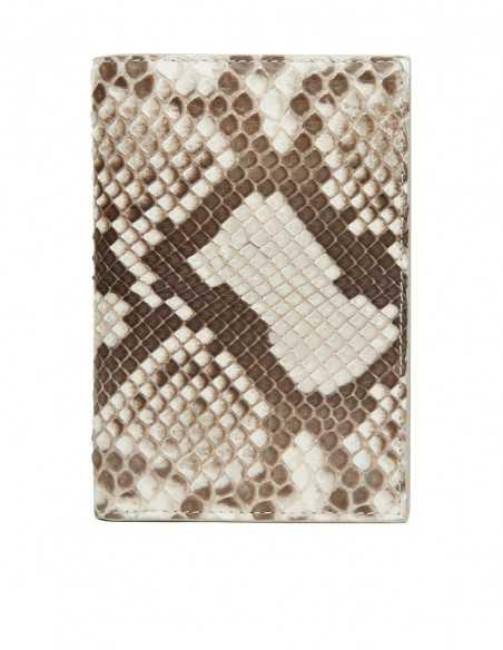 Men's Diamond Python Vertical Wallet