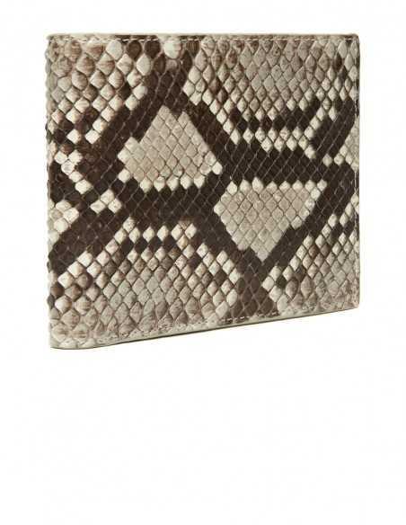 Men's Snake Skin Bifold Square Wallet, Diamond Python Wallet