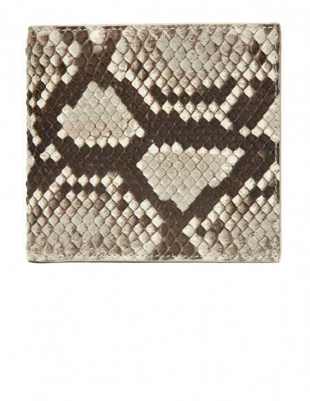 Men's Diamond Python Square Wallet