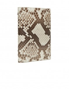 Men's Snake Skin Compact Wallet, Diamond Python Slim Wallet