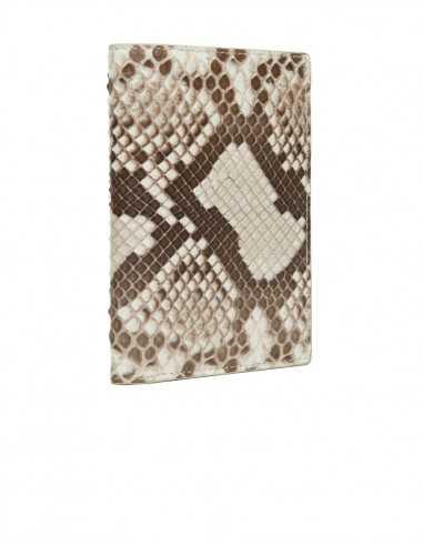 Men's Snake Skin Compact Wallet, Diamond Python Slim Wallet