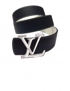 TEXTURED Calfskin Belt Strap for LOUIS VUITTON Signature Detachable Buckles