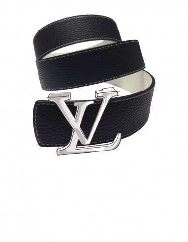 TEXTURED Calfskin Belt Strap for LOUIS VUITTON Signature Detachable Buckles