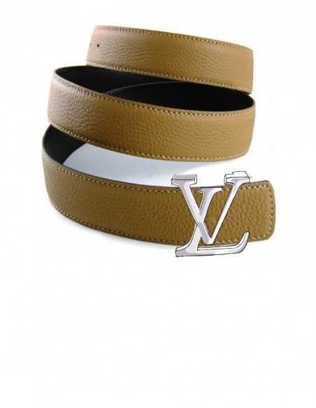 Textured or Pebbled Calf Belt Strap for LV Buckles