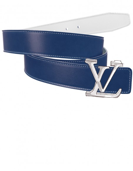 SMOOTH Calfskin Belt Strap for LOUIS VUITTON Signature Detachable Buckles