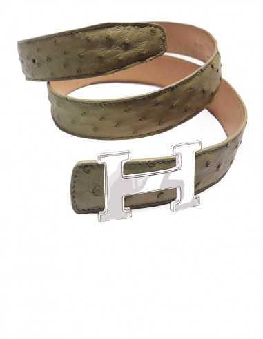 OSTRICH Belt Strap for HERMES H Buckle Belt Kit