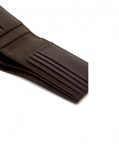 Men's Alligator Bifold Horizontal Wallet Interior Pockets