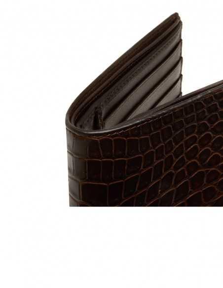 Alligator Bifold Horizontal Wallet for Man