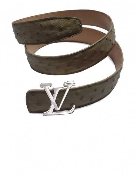 OSTRICH Belt Strap for LOUIS VUITTON Detachable Buckle