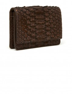 Women's Small Snake Skin Card Case with a bill and receipt compartment