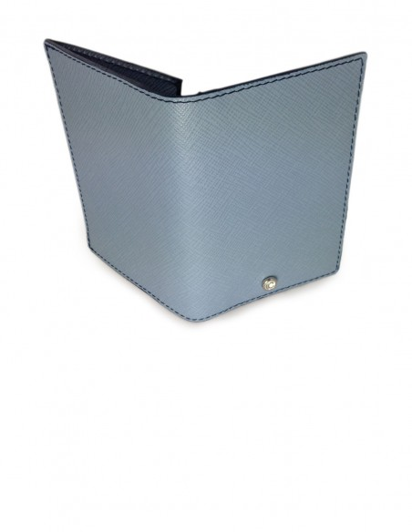 Business Card Holder Ouside Saffiano Leather