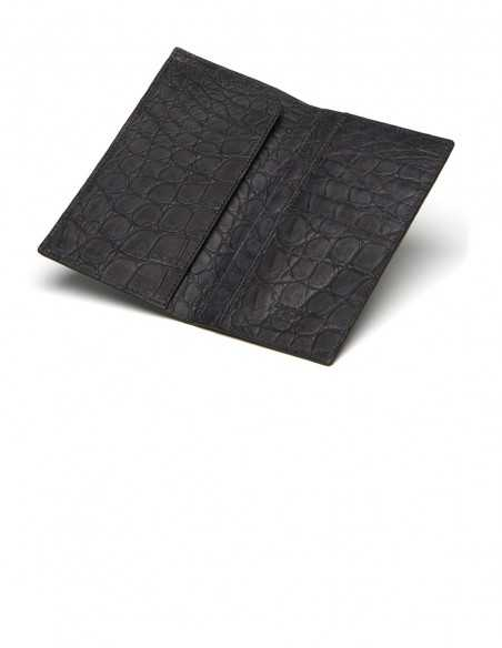 Men's Tuxedo Alligator Belly Long Wallet IN&OUT