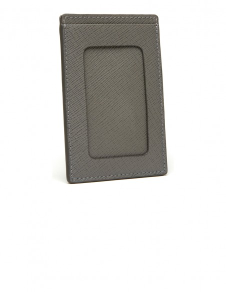 Textured Calfskin SuperSlim Badge Holder