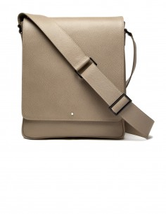 Contemporary City Bag with padded pocket for iPad made of Textured Calfskin