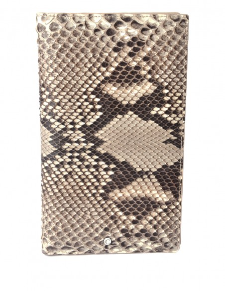 Diamond Python Travel Long Wallet with 9ccard Pockets and Passport Holder
