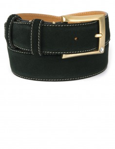 Casual Racing Green Premium Suede Leather Men's Belt