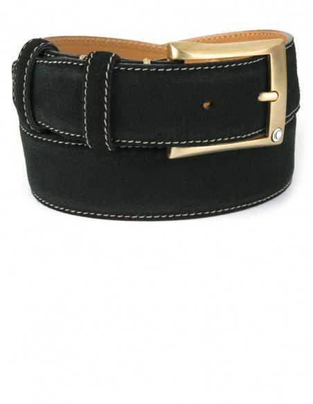 Casual Racing Green Premium Suede Leather Men's Belt