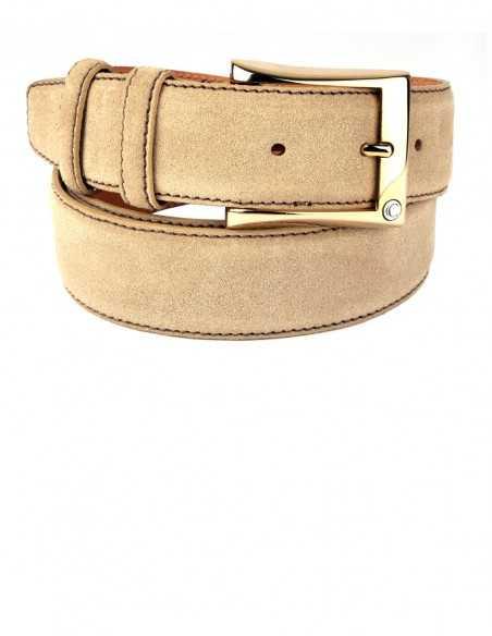 Casual Natural Sand Premium Suede Leather Men's Belt