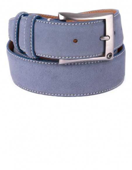 Casual Ice Blue Premium Suede Leather Men's Belt