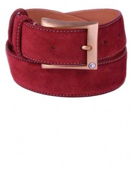 Casual True Red Premium Suede Leather Men's Belt