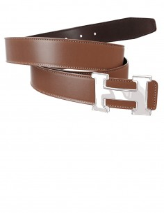 Smooth Calfskin Belt Strap for H Buckle Belt Kit