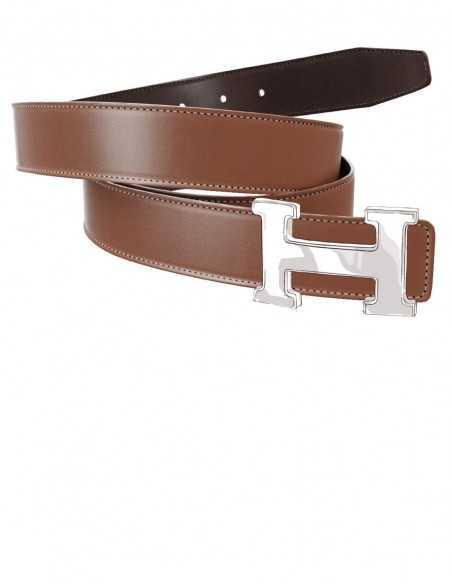 Smooth Calfskin Belt Strap for H Buckle Belt Kit
