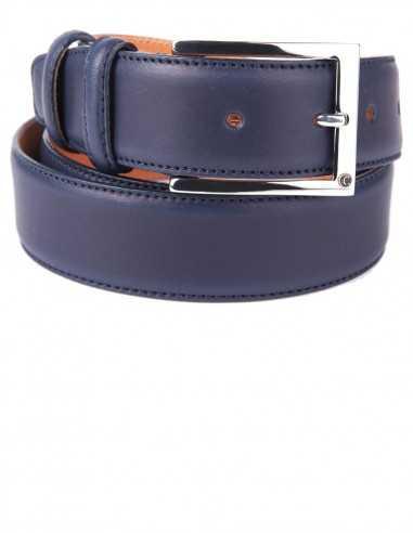 Full Grain Smooth Box Calfskin Classic Men's Belt