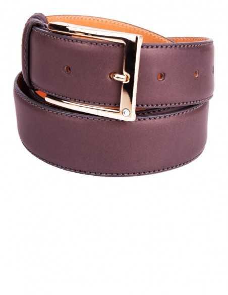 Brown Box Calfskin Classic Men's Belt