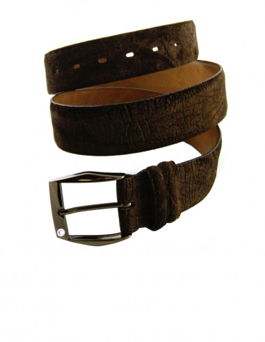 Hippopotamus Leather Men's Belt, Genuine Hippo Leather