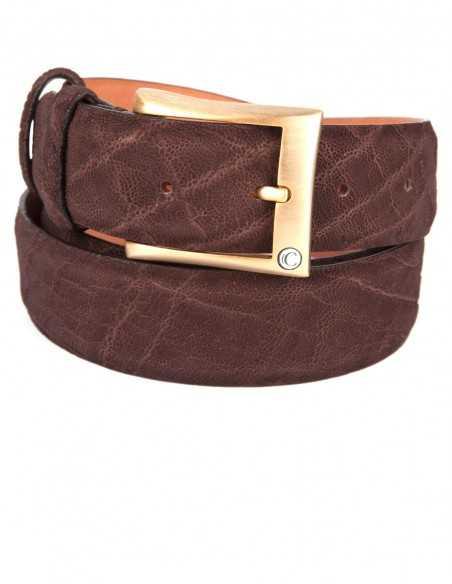 Elephant Leather Men's Belt, Genuine Elephant Leather