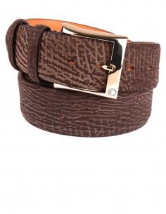 Shark Leather Men's Belt, Genuine Shark Leather
