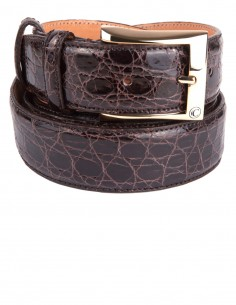 Exotic Glazed Alligator Men's Belt for Casual, Elegant or Sportif Look