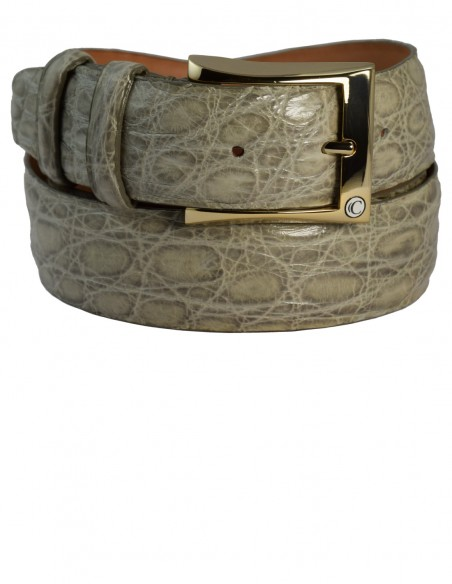 Matte Maracuja Alligator Men's Belt