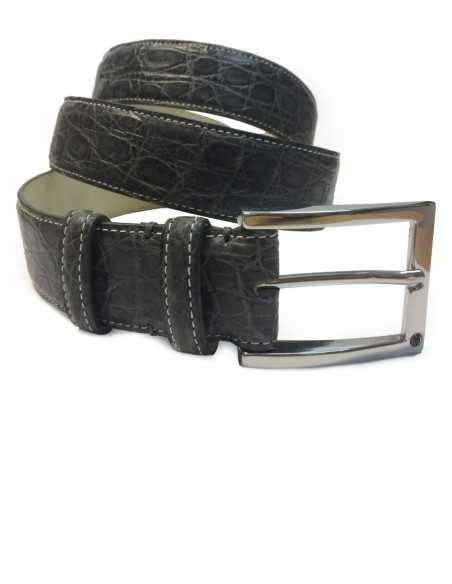 Matte Grey Alligator Men's Belt
