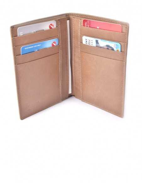 Vertical Hippo Wallet Box Calfskin Lining