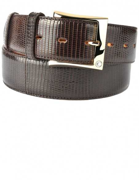 Men's Lizard Belt made of genuine Java Lizard skin