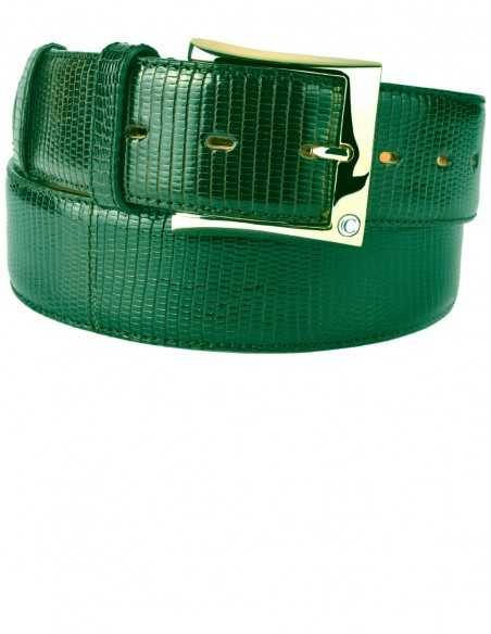 Emerald Green Lizard Men's Belt