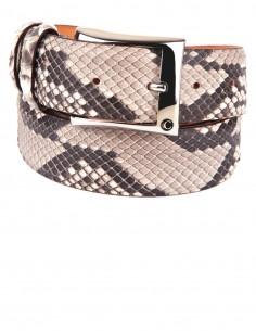 Diamon Snakeskin Men's Belt Genuine and Most Exclusive Rock Python Belt