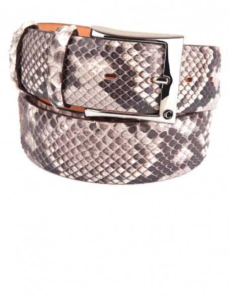 Reticulated Rock Python Men's Belt 40MM Flank Cut
