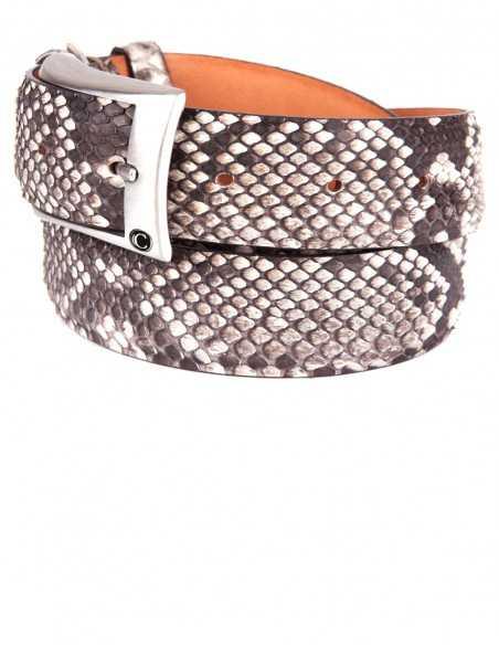 35MM Men's Belt Made of Genuine Diamond Python Flank Cut