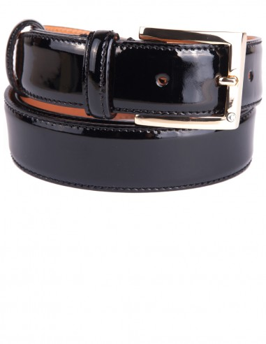 Laquer Calfskin Men's Belt a Formal Belt for Marriage or Events