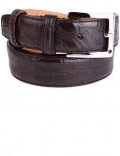 Dark Tan Alligator Formal Men's Belt