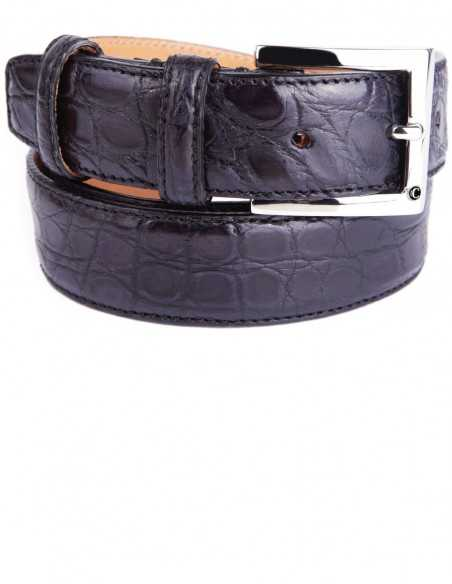 Black Alligator Formal Men's Belt