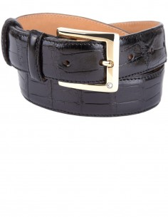 Alligator Tail Formal Men's Belt square pattern, Alligator Belt for Formal Occasions