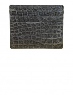 Matte Alligator Slim Credit Card Case