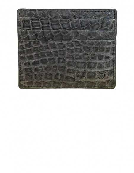 Matte Alligator Slim Credit Card Case