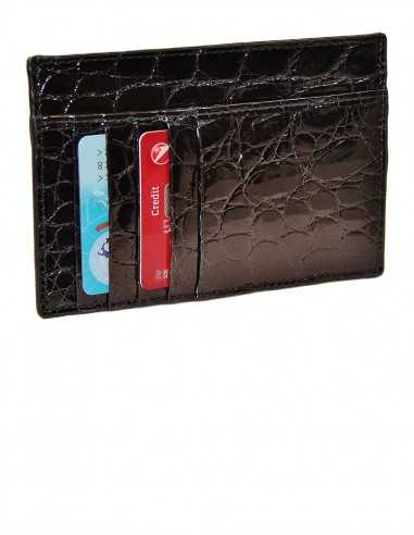 Alligator Flank Smart Card Case with 4 or 8 c/card pockets