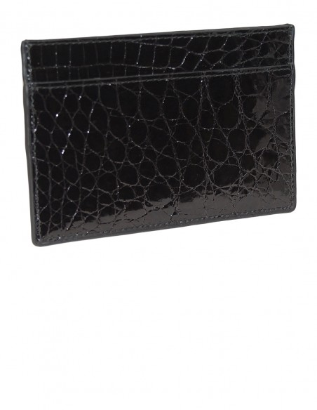 Glossy Alligator Flank Business Card Case